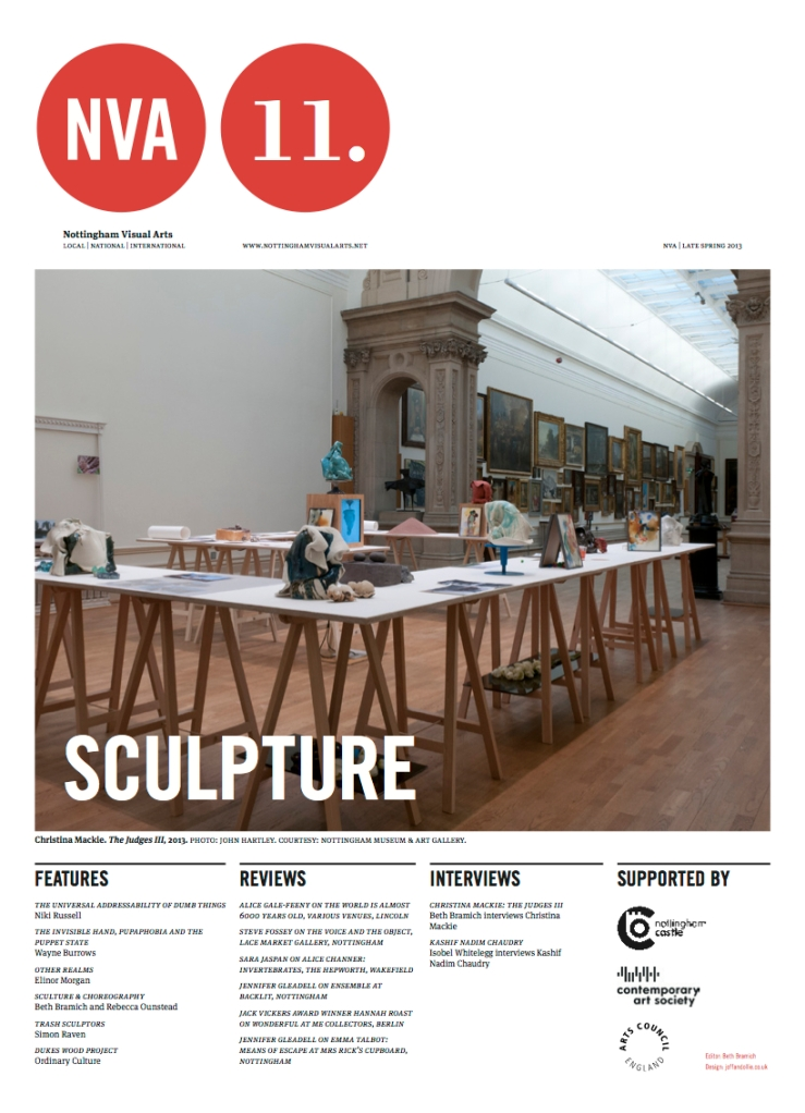 Nottingham Visual Arts, Issue 11: Sculpture.